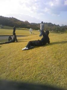 のんびりゴルフです。