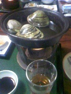 蛤を蒸します