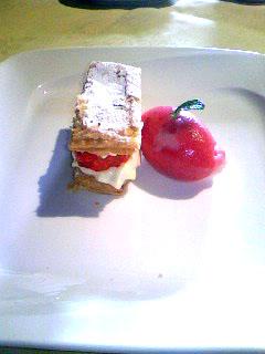 セレスティのランチのデザート