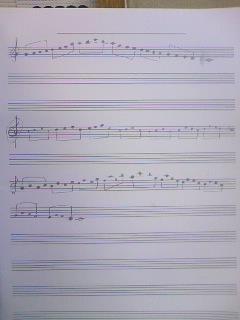 練習用の楽譜