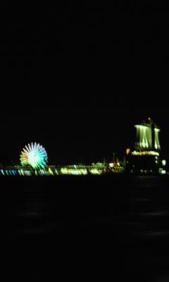 折り返し地点の名古屋港、海側から撮りました。