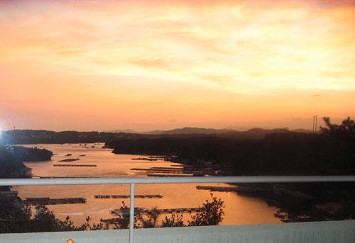 志摩観光ホテルからの夕焼け