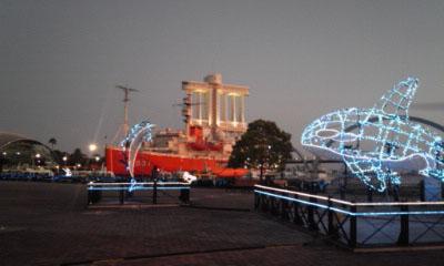 黄昏のガーデン埠頭