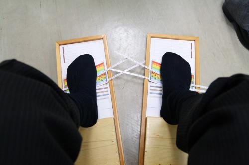 足型を計る