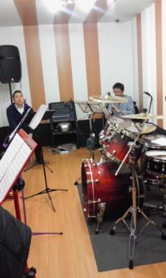 バンド練習中