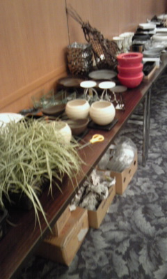 苔玉 花器選び