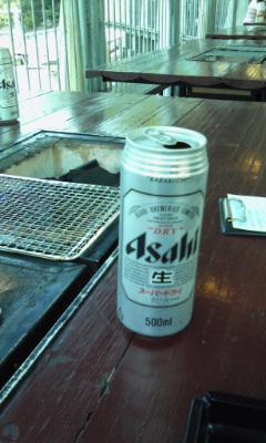 合歓でビール