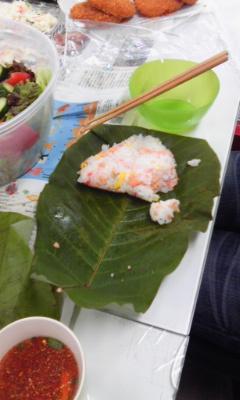 朴葉寿司パーティーランチ2