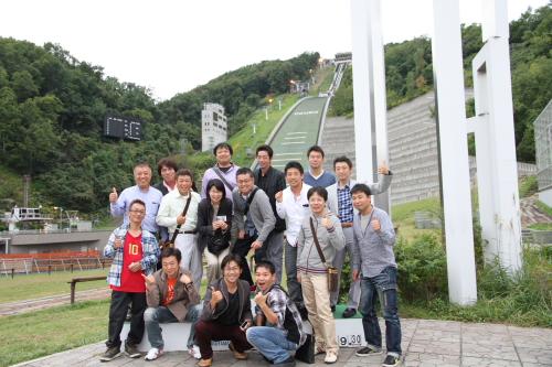 表彰台、大倉山