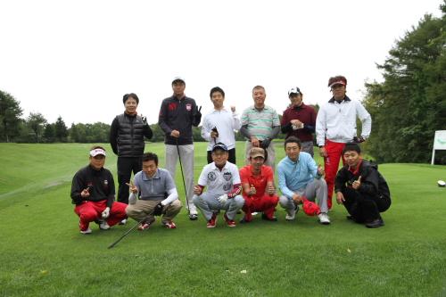 ゴルフ組で記念撮影